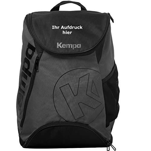 Kempa Rucksack mit Bodenfach Anthra/schwarz 50 x 40 x 25 cm 50 Liter mit Aufdruck Name