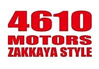 4610 MOTORS ZAKKAYASTYLE RED/カッティングステッカーレッド シロウトモータース雑貨屋スタイル