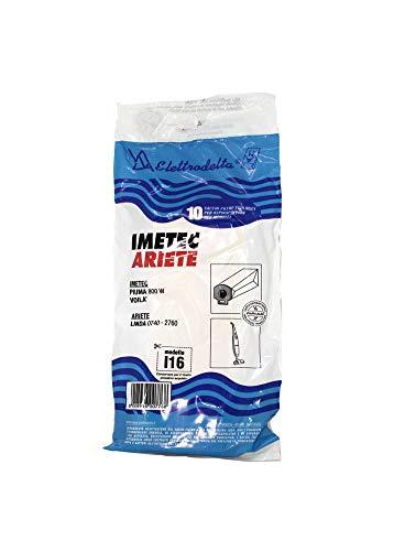 I 16 - Confezione nuova da 10 sacchi filtro per aspirapolvere IMETEC: PIUMA - VOILA' - EASY - ROXY. 20% DI SCONTO SULL'ACQUISTO DI 3 PRODOTTI