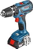 Bosch GSB 18-2-LI Plus Professional Pistol grip drill Lithium-Ion (Li-Ion) 2Ah 1540g Black,Blue,Red GSB 18-2-LI Plus Professional, Pistol grip drill, Impact drilling, Screwdriving, Black,