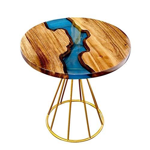 Escritorio de oficina en casa Mesa de café muebles for la habitación del mapa del río escritorio mesa - nogal negro - mesa de café de metal resina nórdica secundarios ronda de mesas de ping-Nest escri
