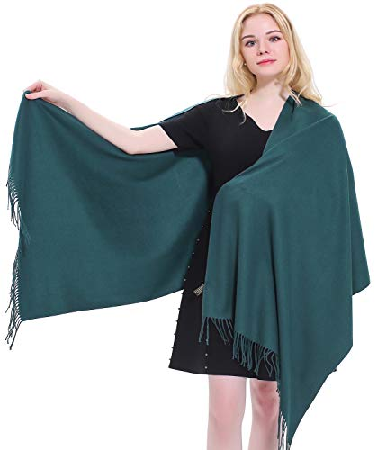 CJ Apparel Teal Green Thick Solid Colour Design Cotton Blend Shawl Seconds Scarf Wrap Pashmina NEWSize One Size