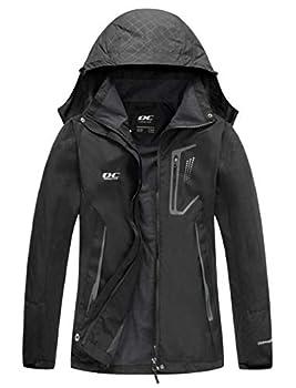 Diamond Candy Women Windproof Hooded Waterproof Rain Jacket Lightweight for Hiking