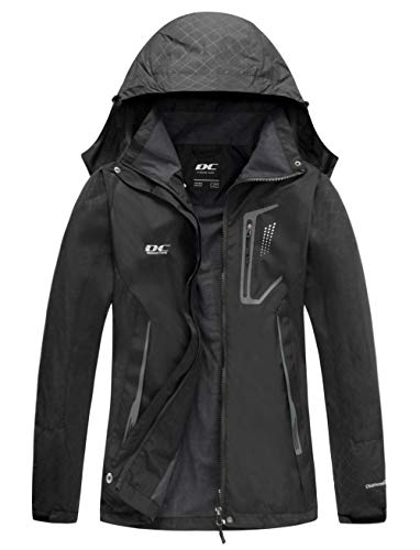 Diamond Candy Womens Rain Jacket Waterproof with Hood Lightweight Hiking Jacket