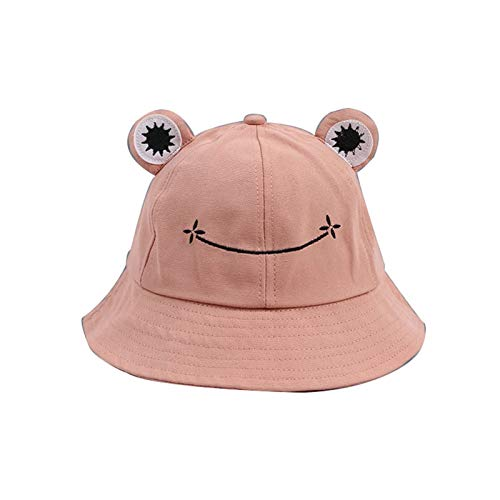 Fashionable Frog Bucket Hat for Women/Teens Girls, Trendy Aesthetic Sun Hat, Pink