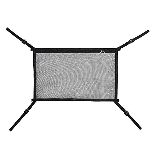 LXW Car Camping Cargo Net Pocket - Malla Ajustable de Doble Capa, Techo de la Tienda de campaña, para Viajes Largos Bolsa de Almacenamiento Tienda de campaña Colcha para niños