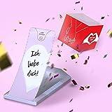 «BOOM!» Grußkarte Ich liebe Dich, Liebeskarte Explosion mit Konfetti, Valentinskarte, Geschenkideen für Geburtstag, Valentinstag