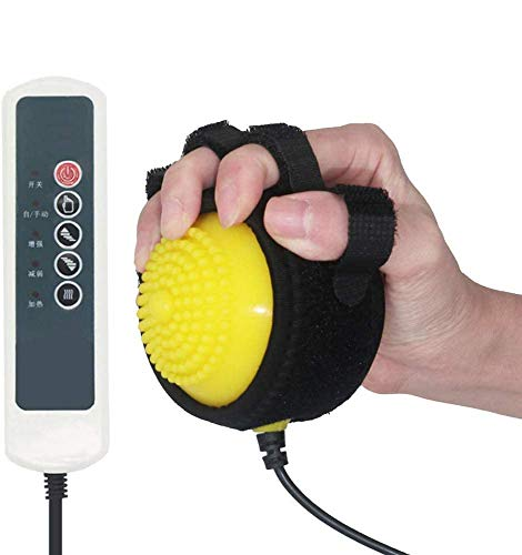 Electric Hot Compress Stroke Hemiplegia Finger Recovery Equipment Hand Training Electric Fingers Massager 110V-220V Infrared Therapy Finger Passive Training
