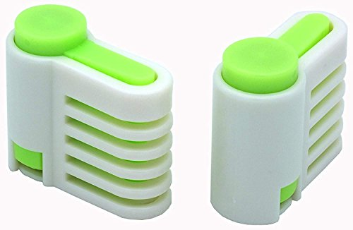 SYGA Set of 2 DIY Cake Slicer, Stratification Auxiliary, Bread Slice, Toast Cut, 5 Layers Leveler Slicer, Kitchen Fixator Tool(Green)