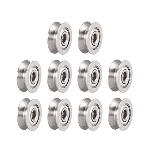 uxcell V623ZZ Deep Groove Guide Pulley Rail Ball Bearings 3mmx12mmx4mm Double Metal Shielded (GCr15) Chrome Steel Bearings 10pcs