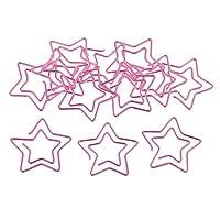 メタル クリップ ペーパークリップ ゼムクリップ メモ帳/文書装飾 約12個 全3種 - ピンク