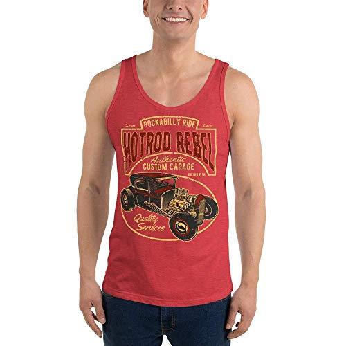 Hot Rod Rebel, Camiseta de Tirantes Unisex, XS - 2XL, 10 Colores Diferentes Rot Triblend XL