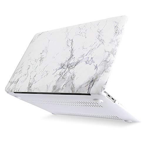 MOSISO Funda Dura Compatible con MacBook Air 13 Pulgadas 2020 2019 2018 A2337 M1 A2179 A1932, Ultra Delgado Carcasa Rígida Protector de Patrón de Plástico Cubierta, Mármol Blanco