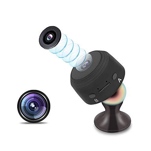 Cámara Oculta, cámara espía Mini niñera de Seguridad para el hogar 1080P HD con monitorización de Movimiento, 120 ° Gran Angular, Video de visión Nocturna (Negro)