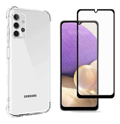 Capa Case Anti Queda Samsung Galaxy A32 4G + Pelicula 3d Vidro - (C7COMPANY)