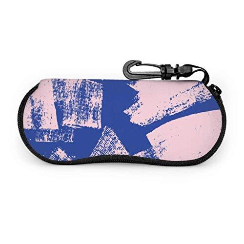 HHJJI Pinsel Graffiti Freedom Leicht schlanke Sonnenbrillenetuis für Brillen Leichte tragbare Neopren-Reißverschluss Softcase Sonnenbrillenetui