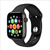 Smart Watch per telefoni Android e iPhone, Bluetooth Smartwatch Fitness Tracker Blood Pressure Cardiofrequenzimetro Orologi intelligenti per uomo Donna (Nero)