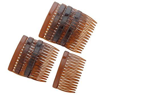 Tortoise Multi-Purpose Hair Combs - Set of Eight (8)