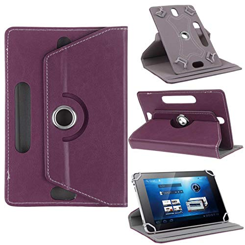 CoverON Universal 9-10.6 inch Screen Size Tablet Case, Multi-Angle Stand Folio Adjustable Protective Cover Compatiable for iPad Samsung Galaxy Tab Acer Lenovo - PU Leather Holder Band (Purple)