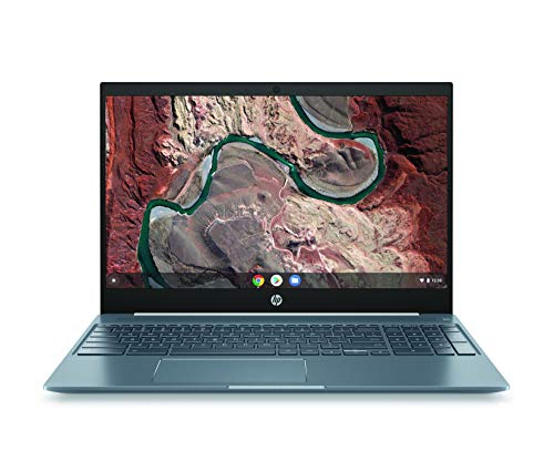HP Chromebook 15 - 15.6' Full HD Touchscreen Intel Core i3-8130U Intel UHD Graphics 620 4GB SDRAM 128GB eMMC Audio by B&O Ceramic White/Cloud Blue Backlit Keyboard 15-de0517wm (Renewed)