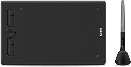 HUION Inspiroy H580X قرص نقاشی 8x5 اینچ تبلت گرافیکی دیجیتالی Chromebook پشتیبانی از عملکرد شیب Stylus بدون باتری 8192 قلم فشار و 8 کلید اکسپرس