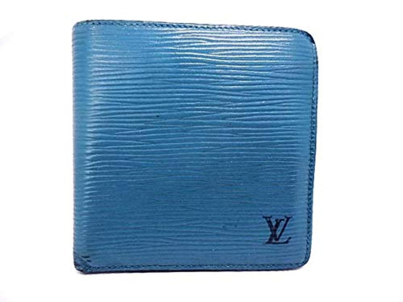 (ルイヴィトン)LOUIS VUITTON 2つ折り財布 ポルト ビエ?カルト クレディ モネ トレドブルー M63545 【中古】