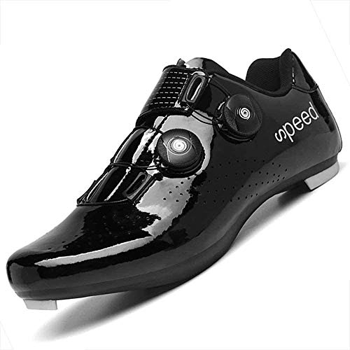 KUXUAN Cycling Shoes Unisex,professional Mountain Bike Breathable Sneakers Bicycle Racing Shoes,Black-41 EU
