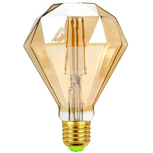 TIANFAN Edison Classic - Bombilla LED forma de diamante, 4 W, estilo vintage, 240 V, E27