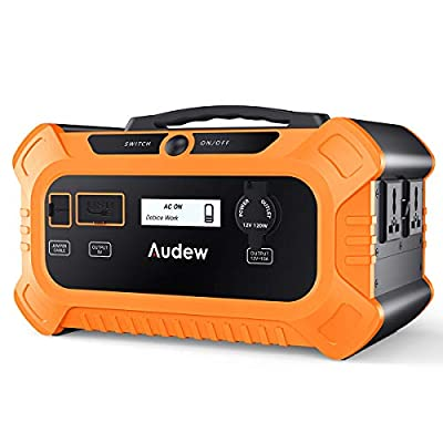 Audew Portable Inverter,Portable Battery Generator Power Source-Lithium Battery Power Supply with 12V DC/110V AC/USB Outputs