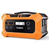 Audew 500Wh Portable Power Station,200W/156250mAh LiFePO4 Solar Generator with AC/DC/USB Output for CPAP Camping Emergency Outdoor