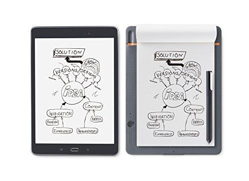 ワコムWacomBambooSlateSA5対応ミディアムグレースマートパッド電子ノートボールペンで紙にメモやスケッチを書いてデジタル化スマホタブレット対応CDS610S