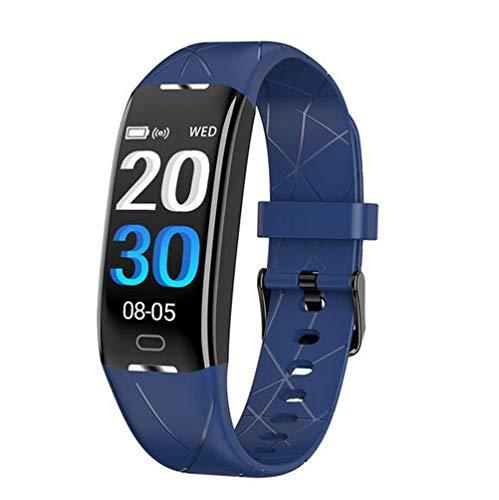 Boyuan Z21 SmartWatch Android iOS Bluetooth Pantalla táctil a Prueba de Agua Monitor de Ritmo cardíaco Medición de la presión sanguínea Podómetro Deportivo Recordatorio de Llamadas Actividad,Azul