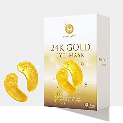 Eye Patches, HOPEMATE Under Eye Mask, 24K Gold ...