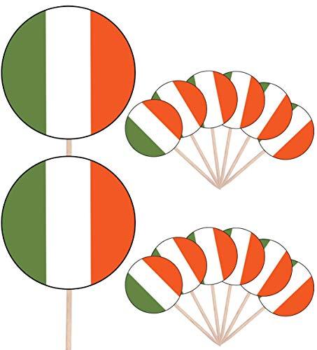 Ierland Vlag Partij Voedsel Cake Cupcakes Picks Sticks Vlaggen Opstaan Decoraties Toppers (Pak van 14)