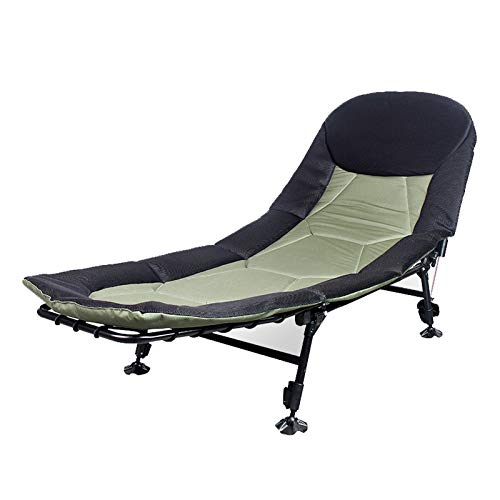 Camping Bed Portable Camping Cot Bed For Adults Compact For Outdoor & Indoor Use Camping Hiking Folding Camping Cot Lightweight and Portable (Color : Green, Size : 195x75x32-45cm)