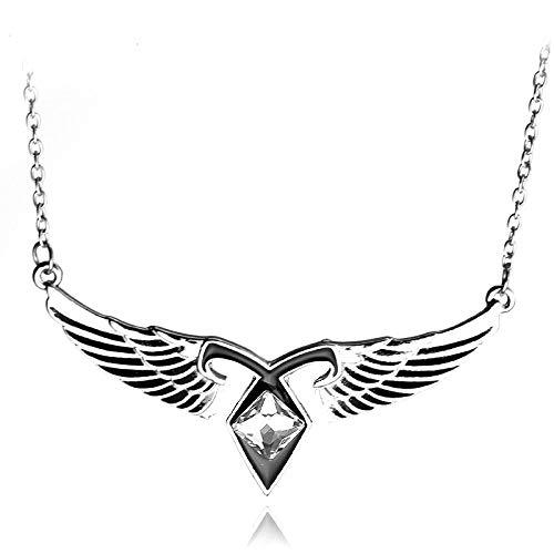 The Mortal Instruments City of Bones Collar | Colgante vintage de runas de poder angélico | regalo para hombres y mujeres