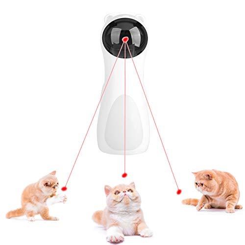 STHfficial Winkeleinstellung / 5-Gang-Katze Interaktives Spielzeug LED-Spielzeug Auto Rotating Cat Übungstraining Unterhaltsame Einstellbare USB-Ladung