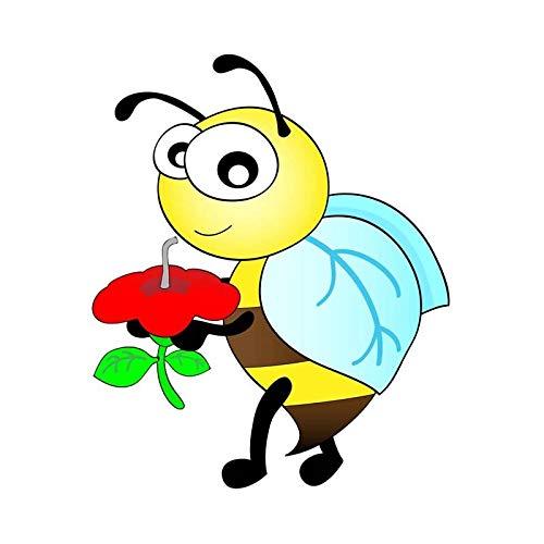 THYSC Auto-Aufkleber 13,3 cm * 16,1 cm Bienenstich Honig Cartoon Auto Aufkleber PVC Aufkleber Auto Liebhaber, Persönlichkeit Zu Zeigen