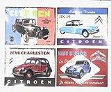 Udc Edition du sur – Juego de 4 manteles individuales vintage Citroën – 30 x 40 cm