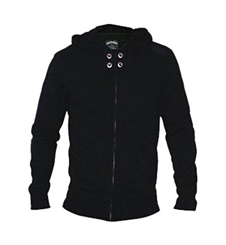 Jack Daniel's Zipper Hoodie Kaputze, Schwarz , Größe S