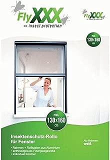 Flyxxx Moustiquaire coulissante pour fenêtre, blanc