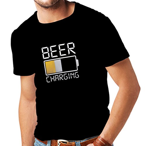 lepni.me Camisetas Hombre Carga de Cerveza, Citas Divertidas, Humor de Bar para Amantes de la Cerveza (X-Large Negro Multicolor)