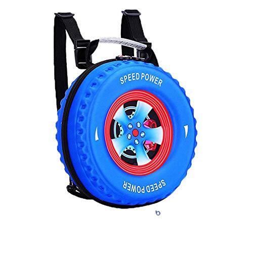 Hasun Autoreifen Rund Rucksack Kinder Kawaii Schulrucksack Jungen Nylon Schoolbag Mode Druck Schultasche Lässig Backpack
