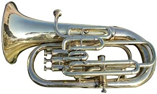 Queen Brass Euphonium Gold Lacquer Pure Made of Brass 4 Valve Euphonium Bb Pitch With Free Case Box & Mouth Pc.