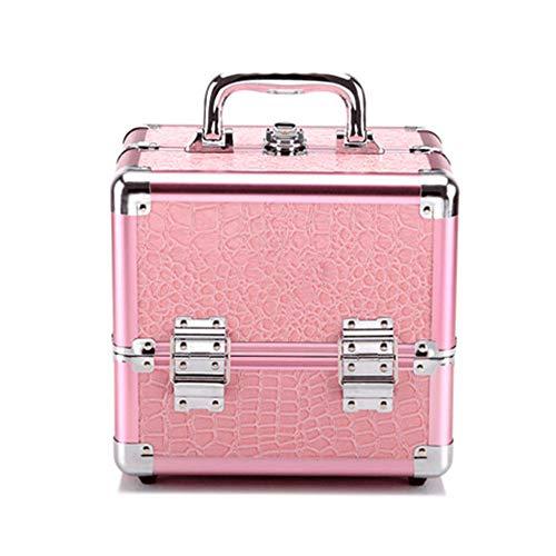 Trousse de Maquillage Multifonction Portable Maquillage Voyage Cosmétique Sacs Trousse De Toilette Pour Ados Filles Femme Artistes pour les Voyages d'affaires et le Tourisme ( Color : Pink(S) )