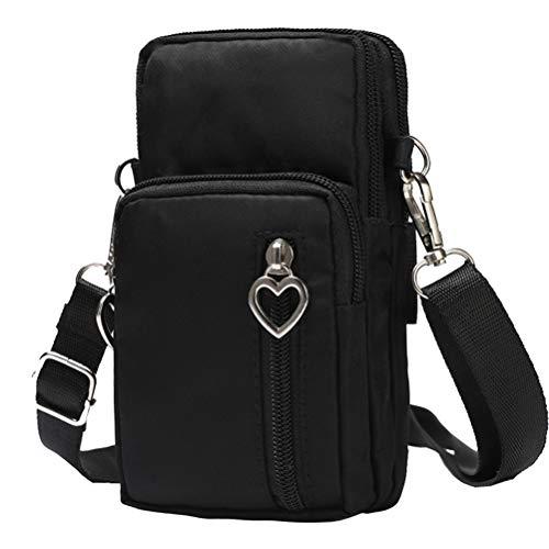 Schimer heuptas Waist Bag gsm-tas, mobiele telefoon omhangtas meisjes, canvas universeel mobielzakje om op te hangen, kaartenvakje, portemonnee, kleine tassen, damestas voor vrouwen en kinderen, telefoons