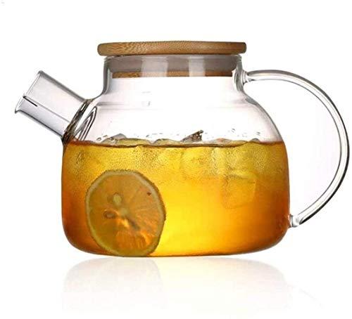 1l grande transparente borosilicato vidrio tetera resistente al calor grande claro té té flor té conjunto Puer oficina hogar herramienta 1yess taza de té
