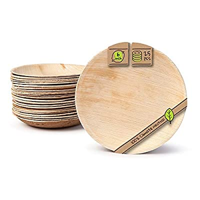 """Naturally Chic Palm Leaf Compostable Plates 