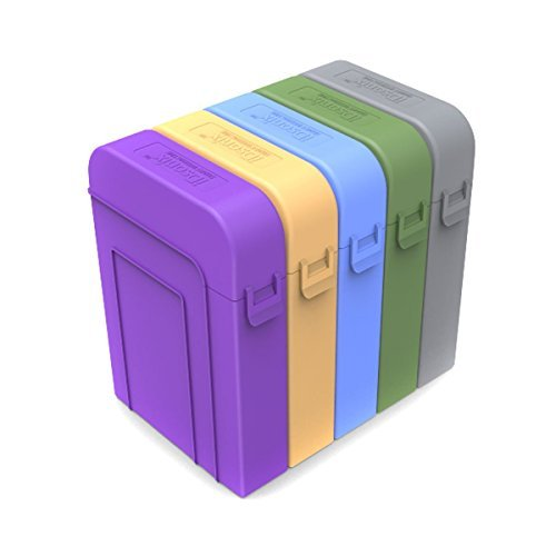 5 X iDsonix Professional Premium Anti-Static Hard Drive Protection Box...