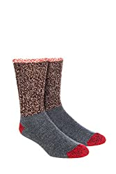 in budget affordable Woolrich Unisex-Adult Color Block Merino Socks Copper Large